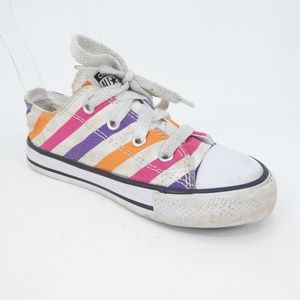 Converse All Star Low Top Striped Girls Sneakers
